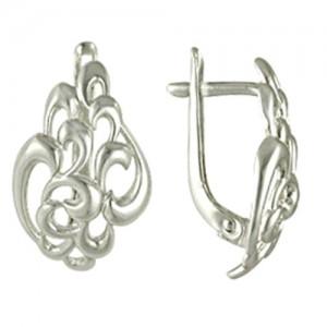 Серьги Анна серебряные кружевные. Английский замок 3400010974