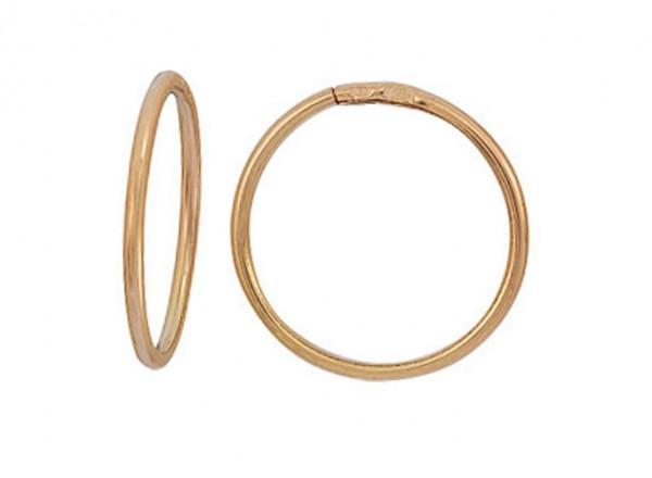 Серьги кольца из красного серебра 925 золотистые 3402017035