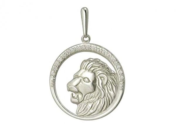 3200036015 Подвеска Знак Зодиака Лев в кольце с фианитами