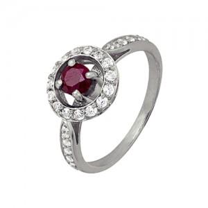 1r2g6261 Кольцо малиновый джем с рубином