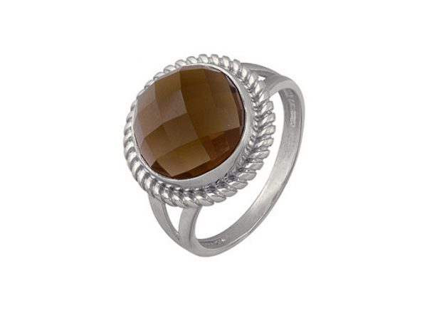 фото кольцо Вечерняя Сахара с раухтопазом