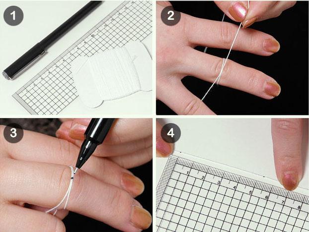 палец для кольца определить размер при помощи нитки
