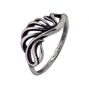 Кольцо Крылья Ветра серебряное орнаментальное. 3401001825