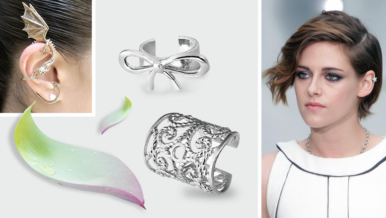 серьги каффы из серебра также модно в 2017 году