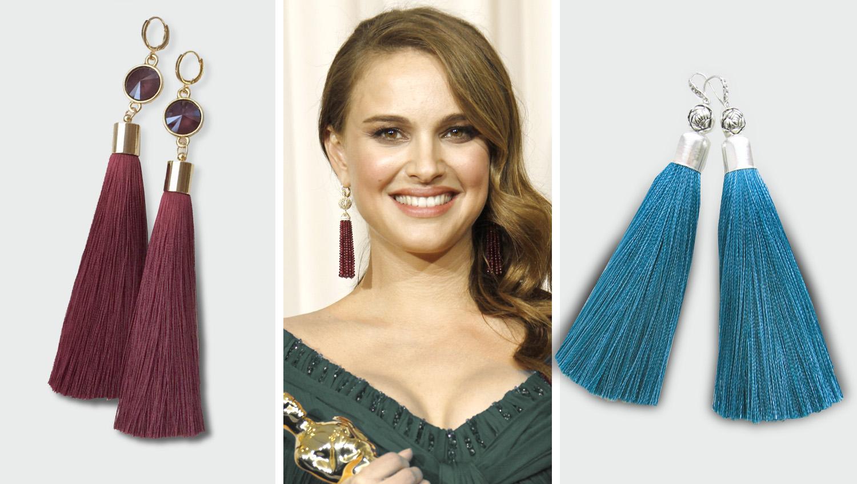 модные серьги кисти 2017 - их носит Натали портман и другие знаменитости