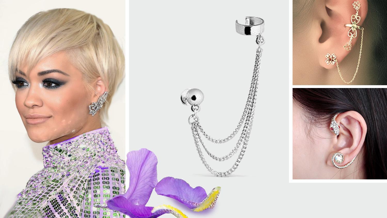 """клаймберы с креплением """"кольца манжеты"""" - модные серьги 2017 года"""