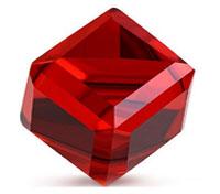 фианит красный камень