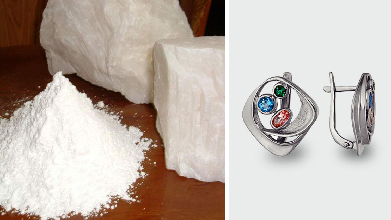 Как почистить серебро топаз и сапфир
