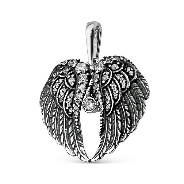 Подвеска крылья орла из серебра