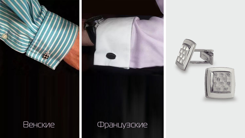 Рубашки для запонок и виды крепления