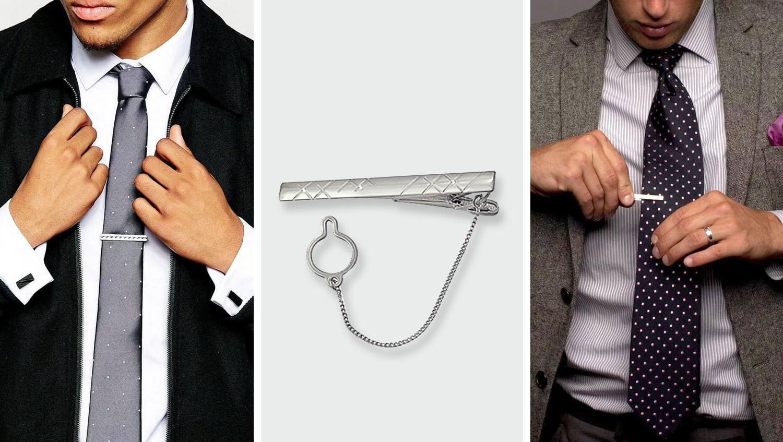 Зажимы для галстука с цепочкой