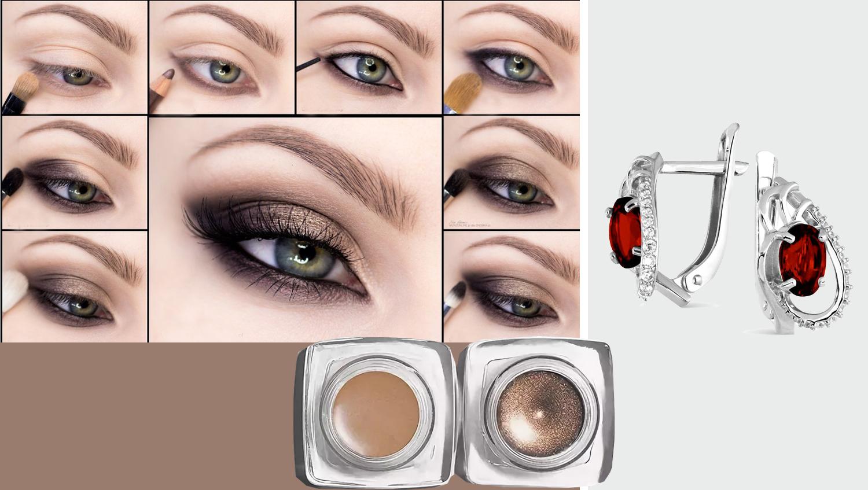 зеленые глаза макияж