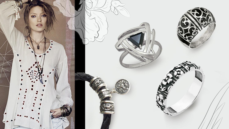 Какие кольца подходят к стилю бохо