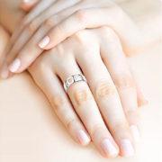 Кольцо «Love» широкое серебряное без вставок -2