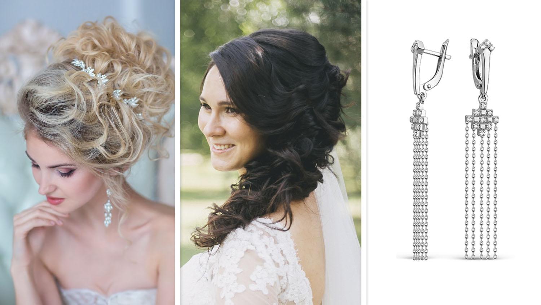 Свадебная укладка волос для круглого лица