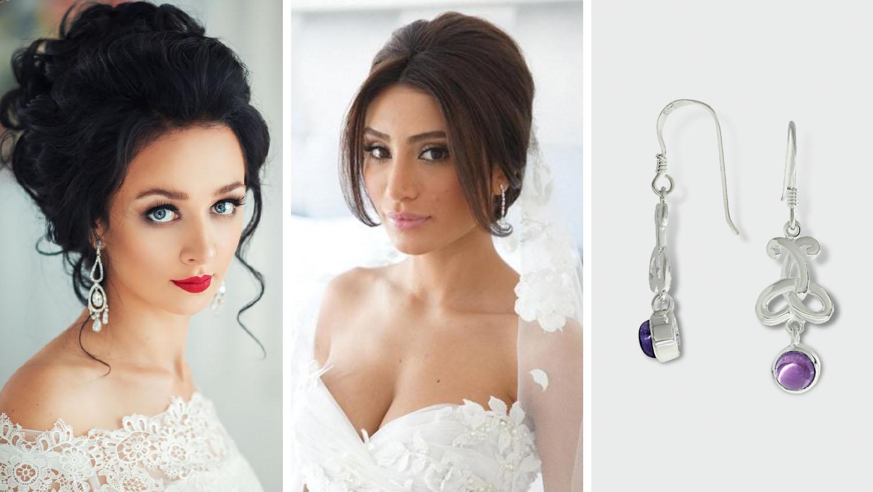 Свадебная укладка волос для квадратного лица
