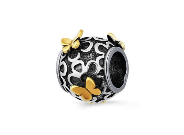 подвеска-шарм Бабочки серебро